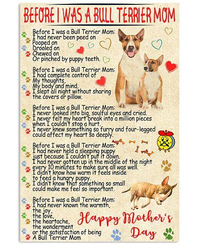 Bull terrier mom poster