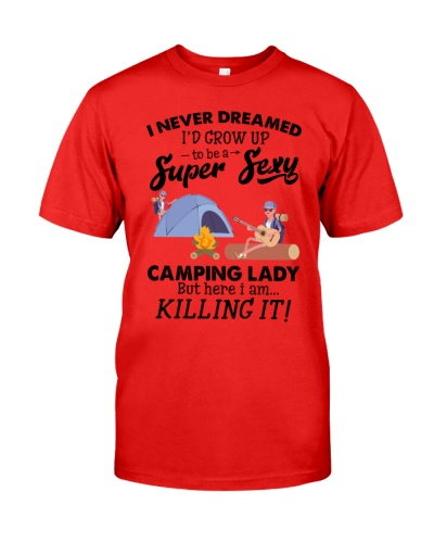 Camping sexy lady