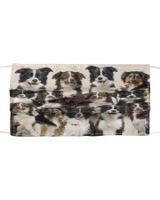 Monica Border Collie many love Cloth face mask front