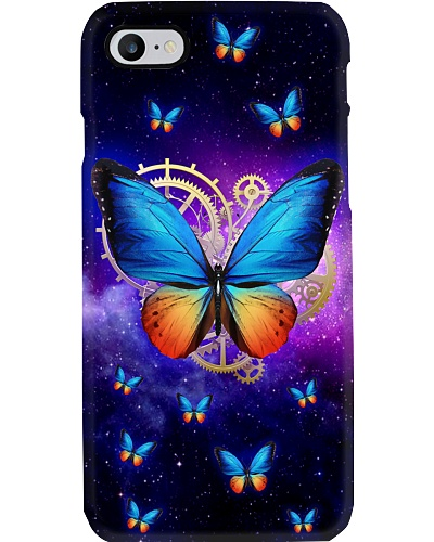 Time Machine Purple Butterfly Phone Case