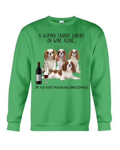 Cavalier king charles spaniels wine she needs