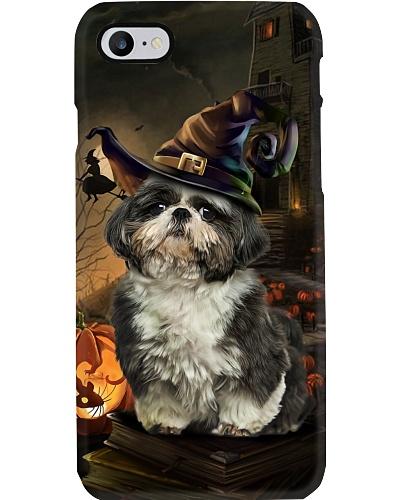 Shih tzu halloween phone case