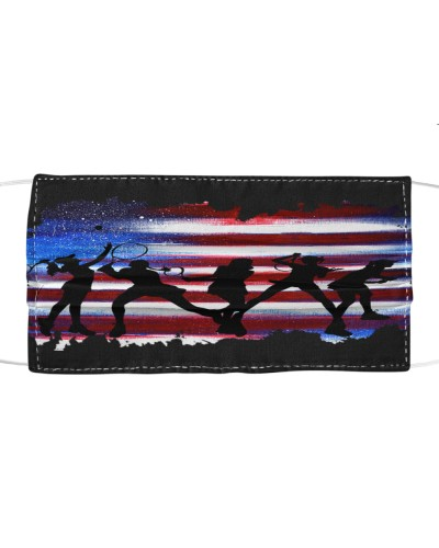 dt 6 tennis silhouette on USA Flag cloth 24520
