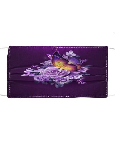 Fn 5 butterfly purple flowers face