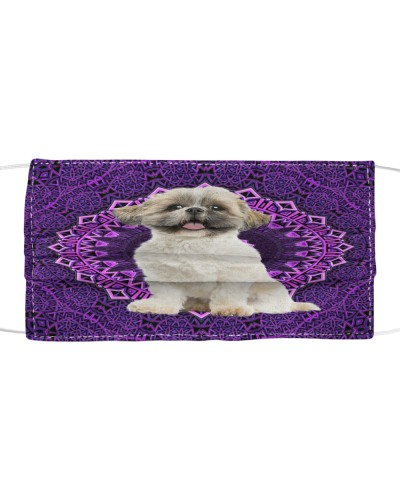 Mandala Purple Shih Tzu