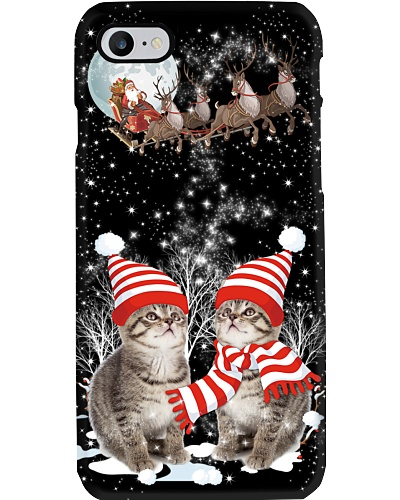 Cats christmas phone case