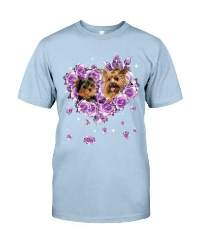 Yorkshire mom purple rose shirt