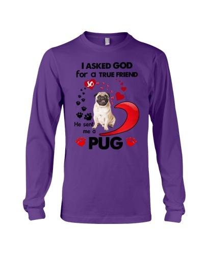 SHN 7 Ask GOD for true friend Pug shirt