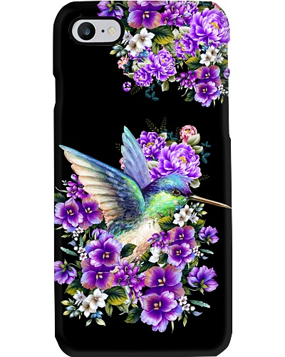 DT8 humming bird violet flower phone case