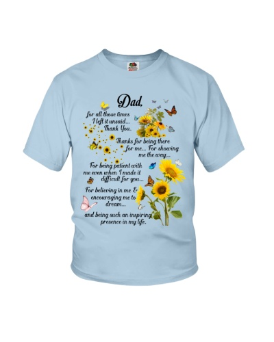 Dad for all those times I left it unsaid thank you