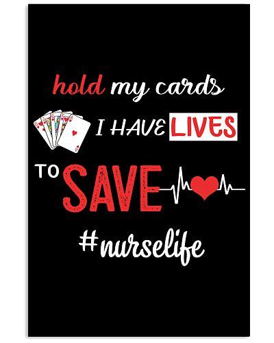 Nurse hold cards