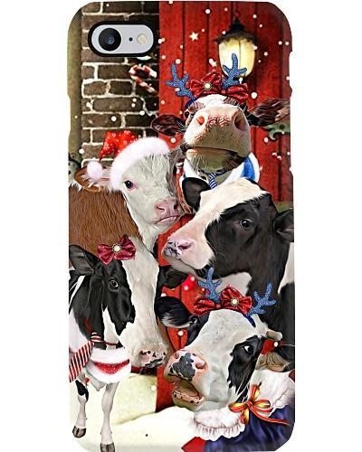 Cows hello christmas case