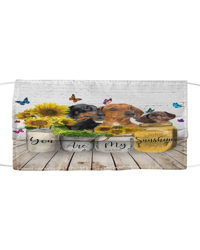 dt 11 dachshund you are my sunshine cloth 16520