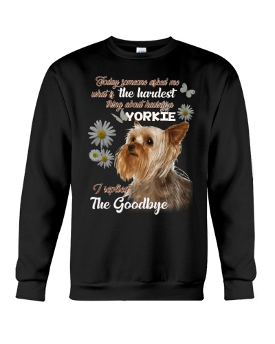 ln 9 yorkshire terrier the hardest thing