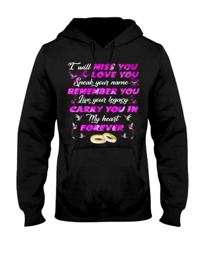 Qhn 8 I Will Love You Forever A Widow Hoodie