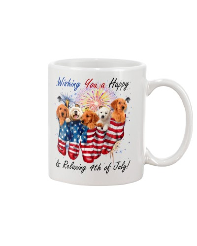 SHN Wish happy relaxing July 4th Golden Retriever