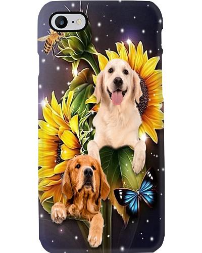 Golden retriever sunflower beautiful phone case