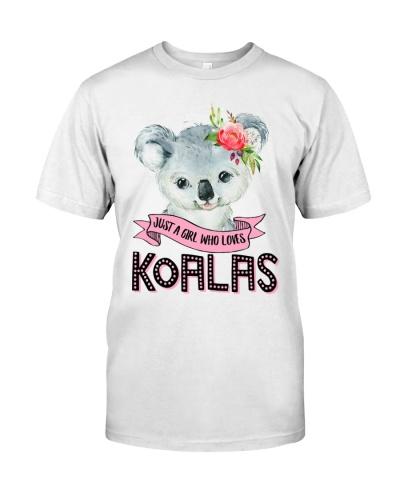 A girl who loves koalas