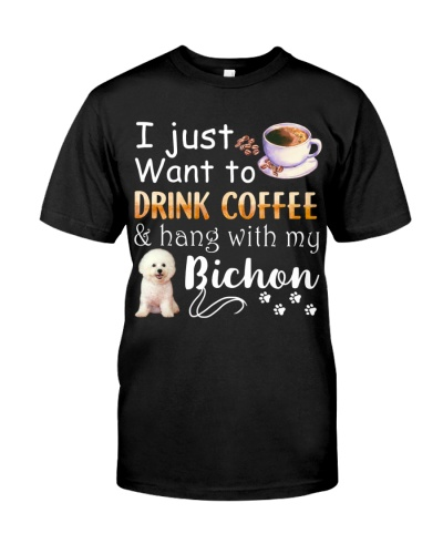 I Want Bichon Frise And Drink Coffee