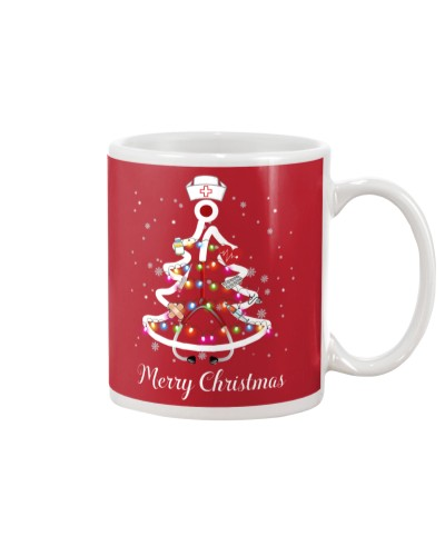 Nurse merry christmas mug black