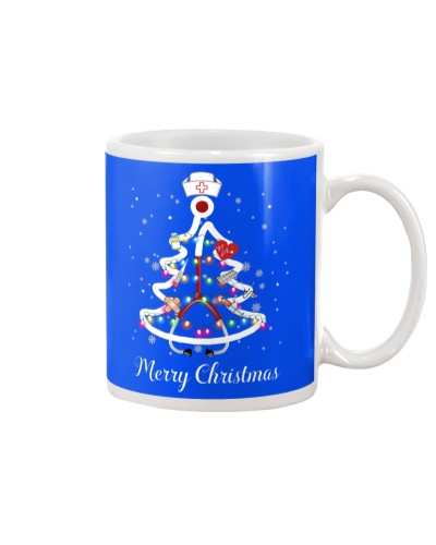 Nurse merry christmas mug black