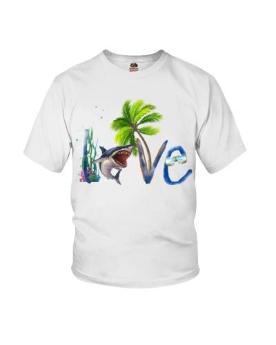 Shark love beach
