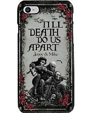 Skull couple 'till death do us apart Phone Case tile