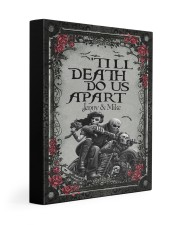 Skull couple 'till death do us apart Gallery Wrapped Canvas Prints tile