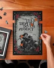 Skull couple 'till death do us apart 250 Piece Puzzle (vertical) aos-jigsaw-puzzle-250-pieces-vertical-lifestyle-front-02
