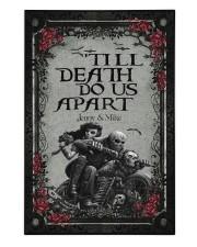 Skull couple 'till death do us apart 250 Piece Puzzle (vertical) front