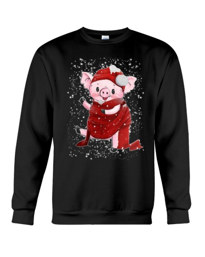Pig a cold christmas night
