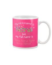 sn my nickname is nena Mug tile
