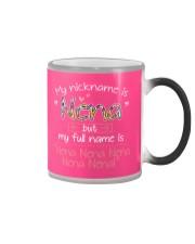 sn my nickname is nena Color Changing Mug tile