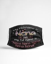 sn my nickname is nena Cloth face mask aos-face-mask-lifestyle-22