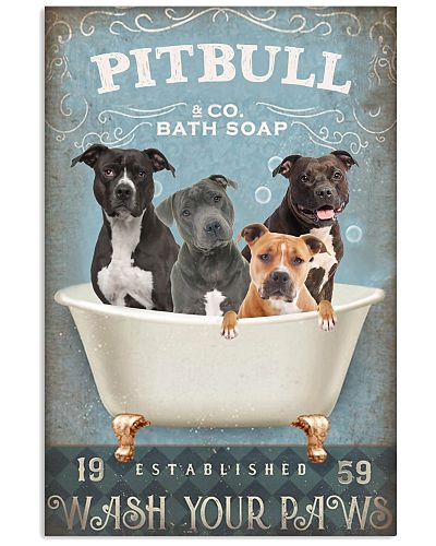 Wash Your Paws Pitbull