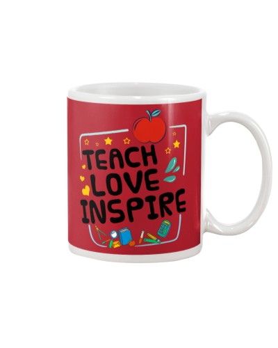 Teach love inspire mug