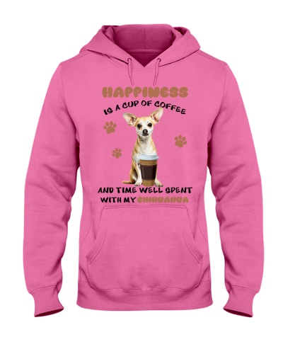 Coffee and time well spent with Chihuahua shirt
