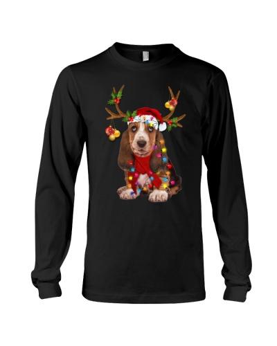 Basset hound reindeer big sale