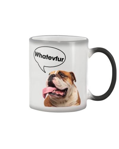 Bulldog whatevfur mug