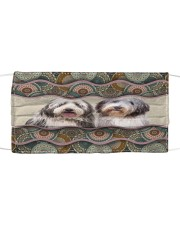 Monica Bearded Collie boho pattern Cloth face mask front