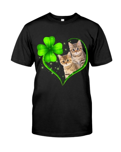 Lucky Green Heart  Cat