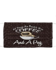 TH 32 Pug And Coffee Cloth face mask front