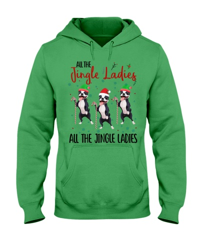 Qhn 8 Jingle Ladies Boston Terrier Hoodie