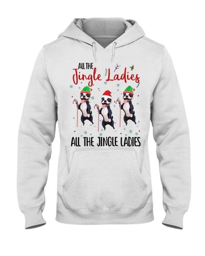 Qhn 8 Jingle Ladies Boston Terrier Hoodie