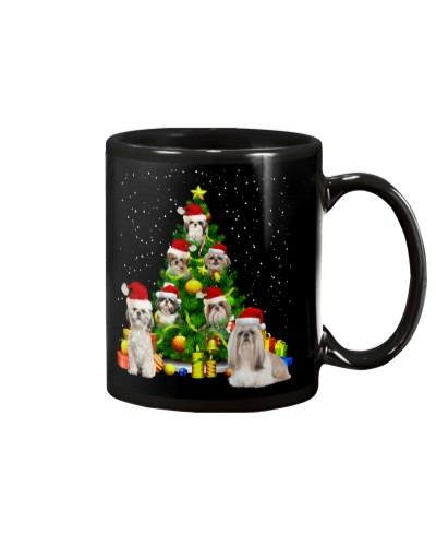 Shih tzu lovely christmas mug