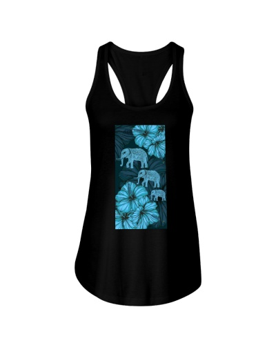 SHN 8 With blue hibiscus Elephant phone case