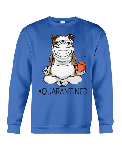 ln bulldog quarantined yoga