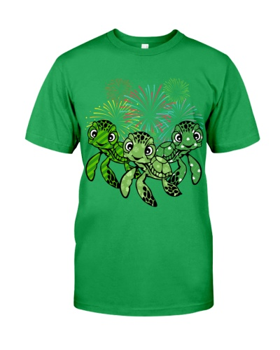 Turtle firework lucky day