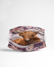 Th 2 Highland Cattle color pattern Cloth face mask aos-face-mask-lifestyle-22