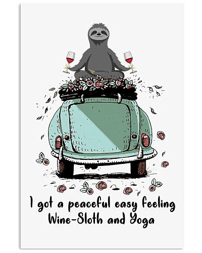 Sloth wine and yoga